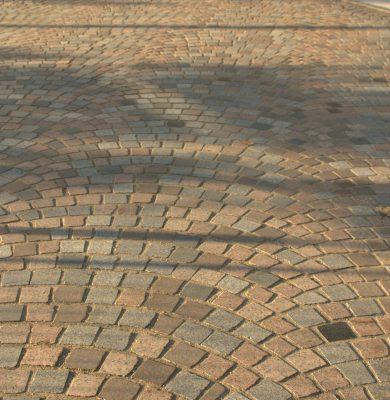 rue piétonne pavés